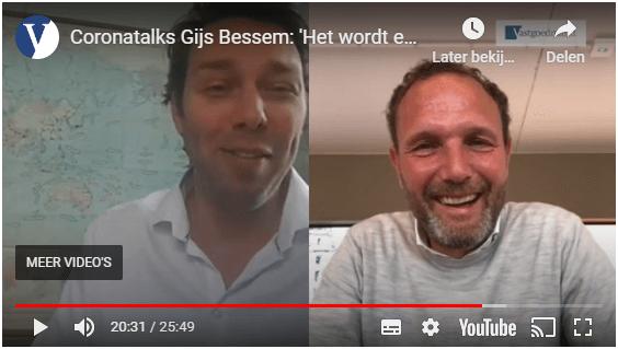 Coronatalks Gijs Bessem: 'Het wordt een hele hete zomer'
